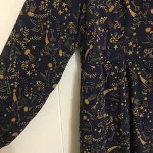 Boden 14L Navy and Mustard Dress Pockets!!